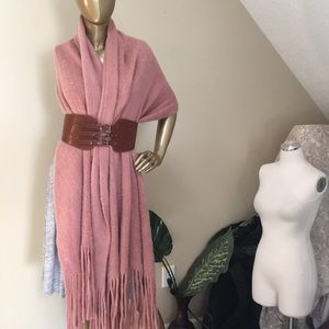 Light dusty rose scarf by ANTHRO